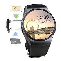 Умные часы Smart Watch KW18 black, аналог Samsung Gear S2. Камера, карта памяти