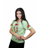"""Рубашка """"Цветочный венок"""" М-219-3   Сорочка """"Квітковий вінок"""" М-219-3"""