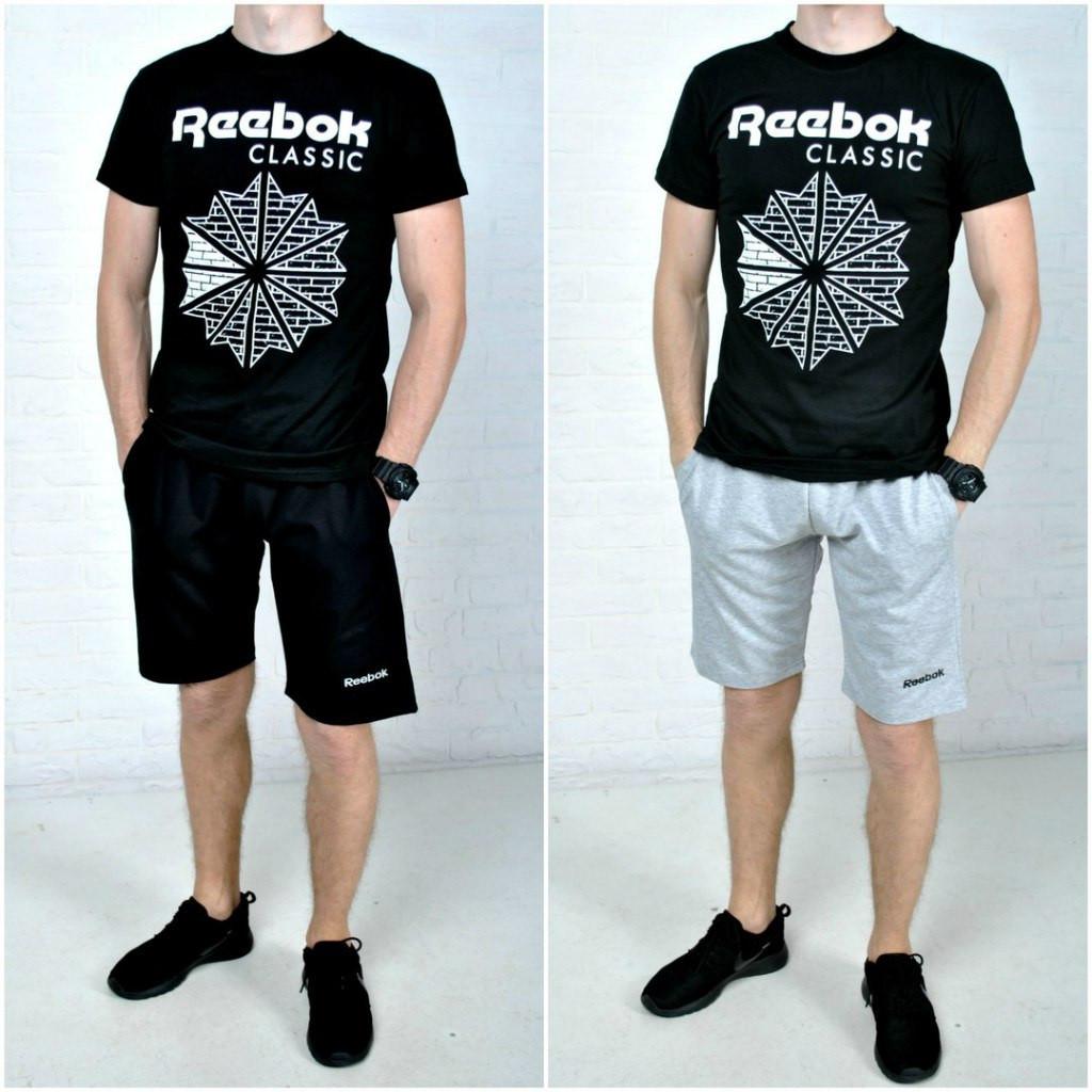 6ca3b9bc6795 Спортивный костюм  шорты и футболка рибок (Reebok classic), мужской