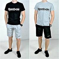 Мужские шорты и футболка с принтом рибок (Reebok)