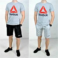 Комплект из шорт и футболки мудской рибок (Reebok), спортивный