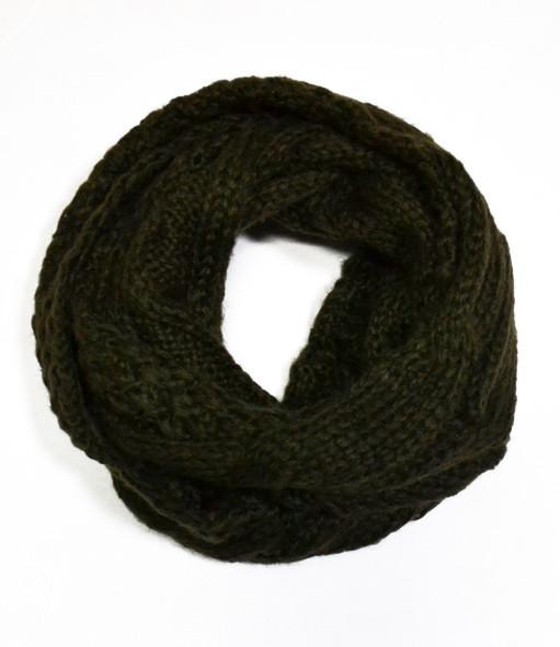 вязаный шарф хомут Dress Xt208шоколад только качественная