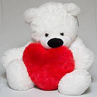 Плюшевый Медведь с сердцем 140 см. №4 Б1-27 №3 (Плюшевый медведь)