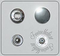 Кнопка нержавейка декоративная 15мм никель таблетка