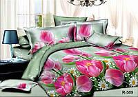 Семейный комплект постельного белья ранфорс Цветочный аромат