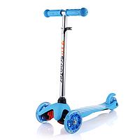 Самокат трехколесный ScooTer  Mini (синий) со светящимися колесами