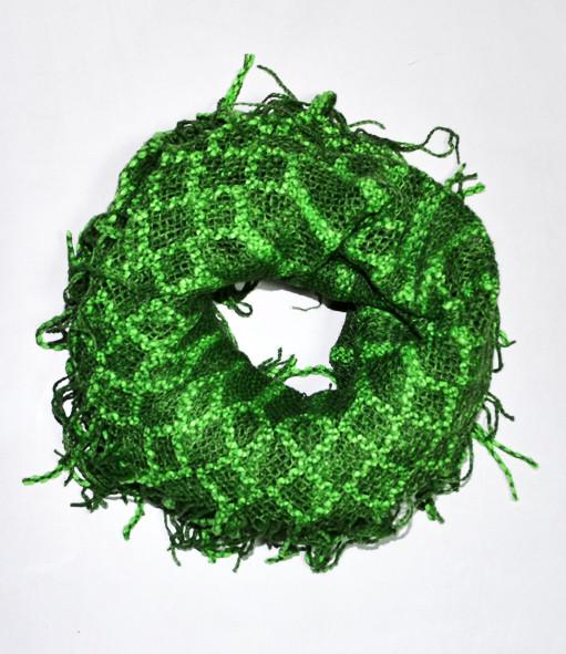 Модный шарфик трансформер 2в1, dress RL121_зелен