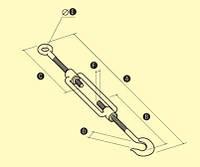 Стяжка римская «крюк-кольцо»