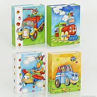 Пакет подарочный, детский 3D Транспорт в ассортименте, 01460