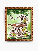 Авторская канва для вышивки бисером «Ароматный чай»