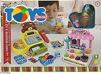 Игрушечный магазинный набор с кассой и продуктами, KDL888-10