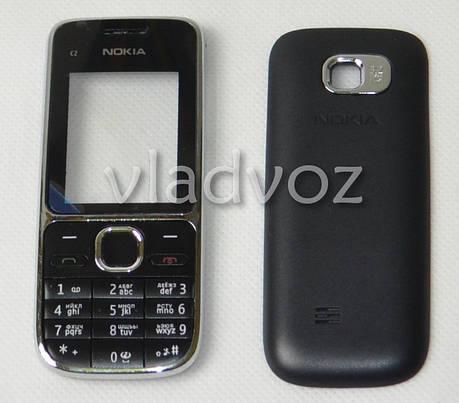 Корпус Nokia C2 01 черный без средней части + клавиатура class AAA, фото 2