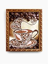 Авторская канва для вышивки бисером «Ароматный кофе»