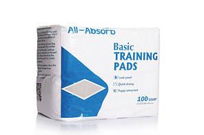 Пелюшки для собак All-Absorb Basic Training Pads 56х56см /100штук