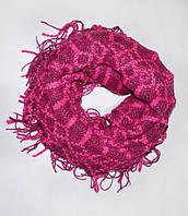 Стильный шарф-хомут трансформер,dress RL121_малин