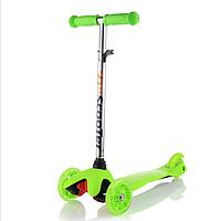 Самокат трехколесный ScooTer  Mini (зеленый) со светящимися колесами