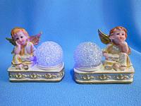 Ангел с подсветкой статуэтка керамическая