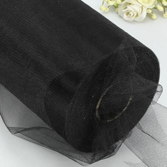 Лента фатиновая 15 см черная