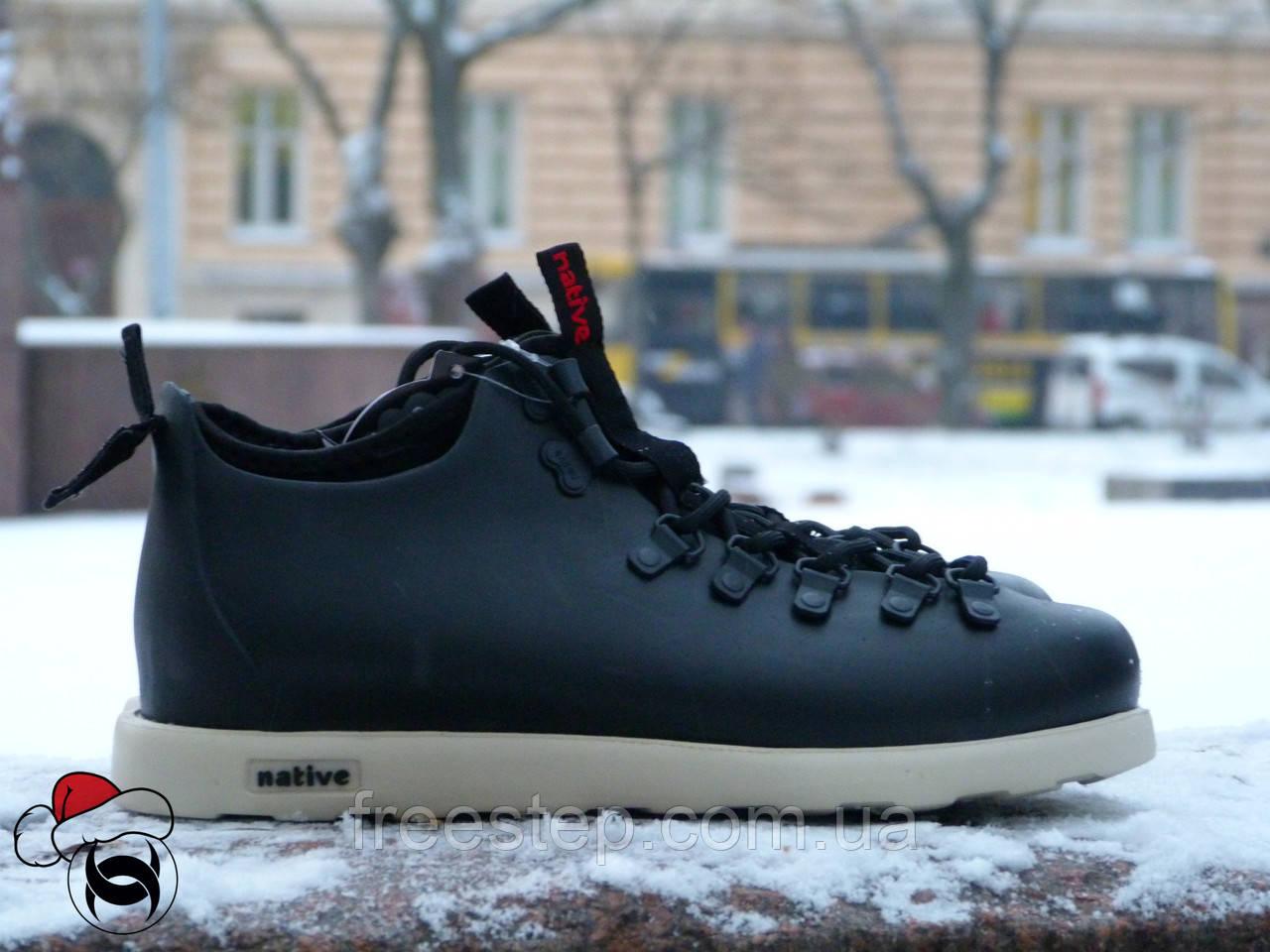 61a09ac8 Зимние кроссовки в стиле Native Shoes Fitzsimmons черные термопрокладка -  Интернет-магазин