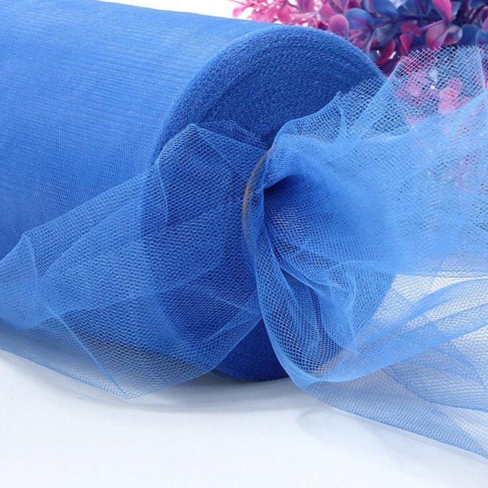Лента фатиновая 15 см синяя