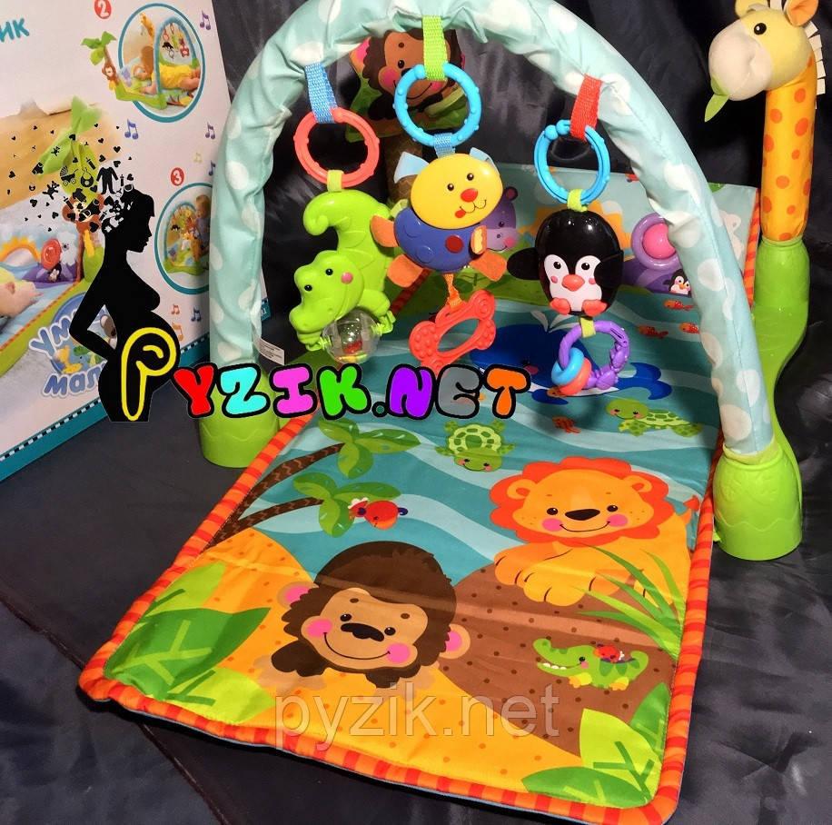 Развивающий музыкальный коврик для новорожденных Baby Tilly 7181