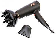 Фен для волос Rotex RFF 200-B, сушка и укладка волос за считанные минуты, мощность 2000 Вт, супер-помощник