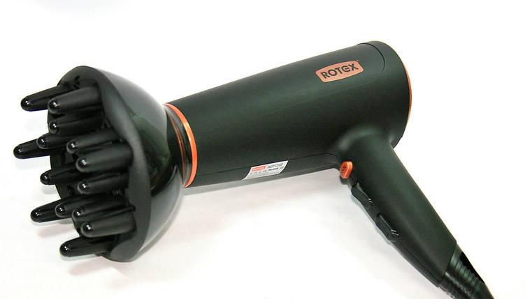 Фен для волос Rotex RFF 200-B, сушка и укладка волос за считанные минуты, мощность 2000 Вт, супер-помощник , фото 2