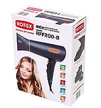 Фен для волос Rotex RFF 200-B, сушка и укладка волос за считанные минуты, мощность 2000 Вт, супер-помощник , фото 3