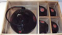 Набор для чайной церемонии черный в деревянной коробке