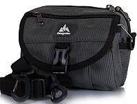 Мужская серая спортивная сумка на плечо ONEPOLAR(ВАНПОЛАР) W3172-grey