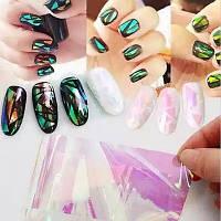 Розовая фольга для дизайна ногтей шеллак гель лак аквариумный дизайн