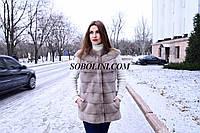 """Жилет из меха скандинавской норки с изящными плечиками """"Maria"""", 44размер"""