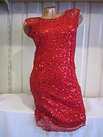 Платье женское ярко-красное вечернее