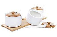 Набор банок (3шт) для сыпучих продуктов с ложками
