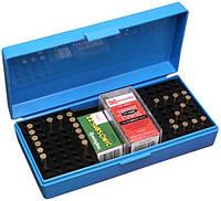 Коробка MTM SB-200 на 250 патронов калибр 22 LR на 200 шт. калибр 22 WMR и на 150 шт. калибр 17 HMR голубой