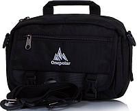 Красивая мужская спортивная сумка на плечо ONEPOLAR(ВАНПОЛАР) W5078-black
