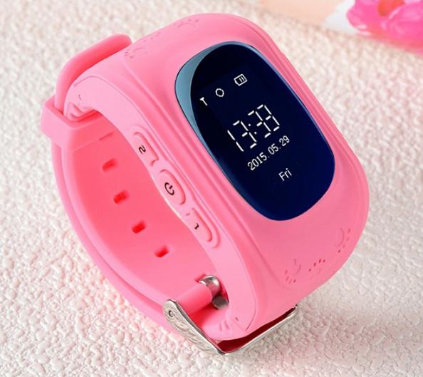 Дитячі розумні годинник Q50 з GPS трекером і функцією телефону (Pink)