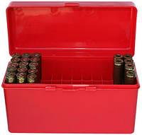 Коробка MTM RM-60 на 60 патронов калибр 222-250 Rem; 243 Win; 7,62x39 и 308 Win красный
