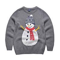 Детский свитер со снеговиком