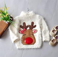 Детский свитер с оленем