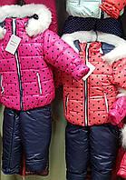 Комбинезон для девочек зима с капюшоном