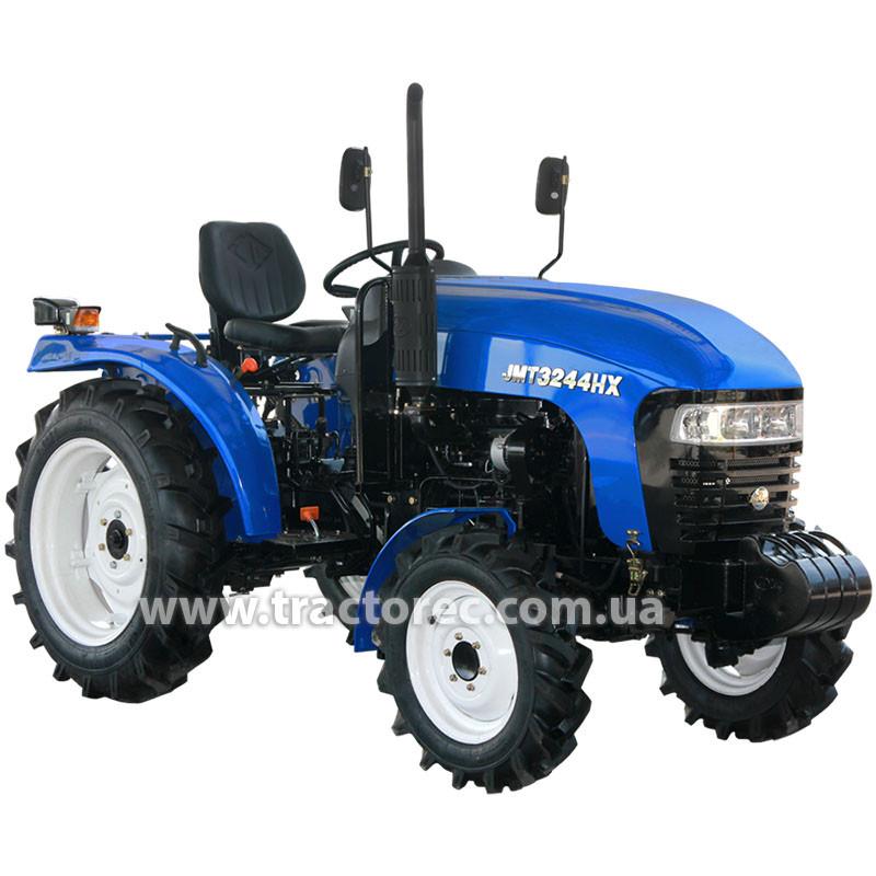 Трактор JINMA JMT3244HX, 3 цил., 24л.с., ГУР, КПП(16+4), 2-ух дисковое сцепление, сиденье на пружине!