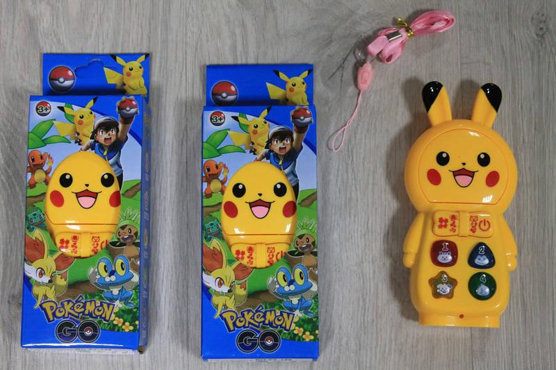 Покемон музыкальный телефон муз, свет в коробке  17*8*4 см, фото 1
