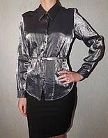 Женская рубашка серебро