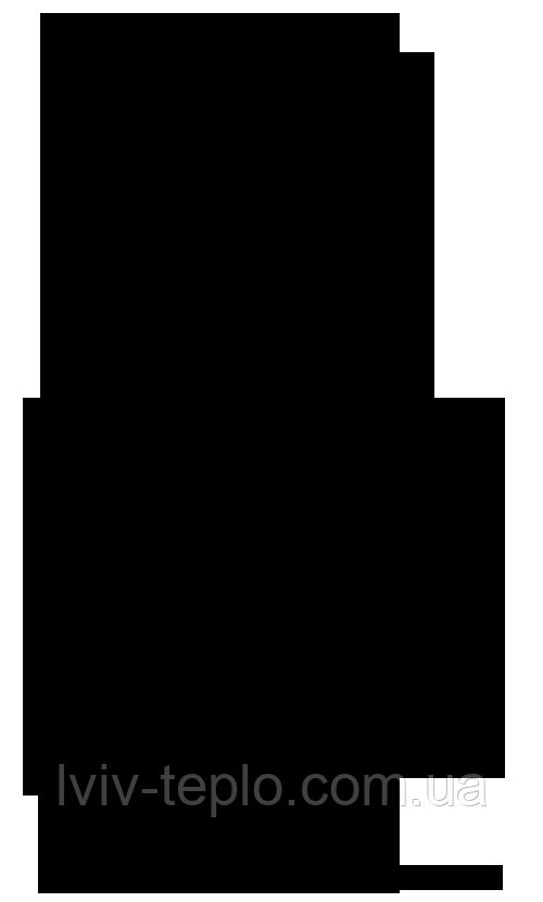Комплект дымохода двустенный вертикальный 4