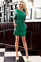 Нарядная Туника-Платье с Оригинальными Рукавами Бирюзовая S-3XL