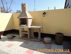 Камин барбекю садовый «Каир» со столом, фото 2