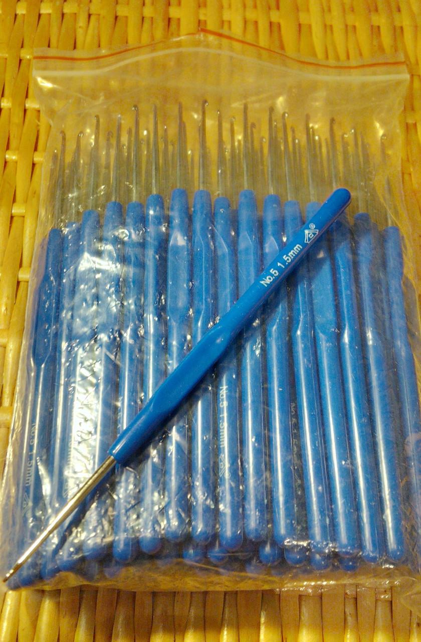 Крючок с пластиковой ручкой №1,0