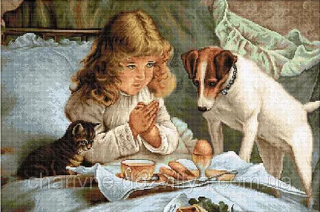 """Набор для вышивания крестиком """"Молитва"""". Художник Чарльз Бартон Барбер"""
