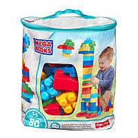 Конструктор Мега блокс стартовый набор 80 деталей Mega Bloks First Builders Big Building Bag, 80-Piece